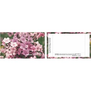 Business Card Series Pink Forget-Me-Not Flower Seeds-One color imprint back of packet