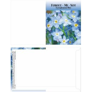 Mailable Series Forget Me Not Flower Mix Seeds- Digital Print - Front & Back